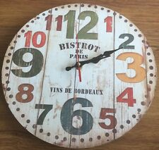Vintage Style Wooden Board Wall Clock