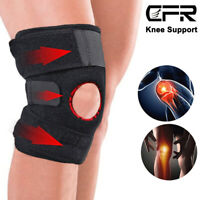 Patella Knee Sleeve Compression Brace Support Meniscus Pad Sports Gym Joint Pain