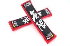 New 2PCS MUGEN RED Car Seat Belt Cover Pads Shoulder Cushion For HONDA