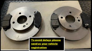 FOR FORD FIESTA MK7 2008-> FRONT BRAKE DISC AND PADS 258MM