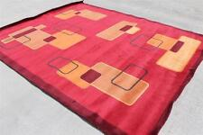 RST17712 Superb Bright Colored Tibetan Woolen Rug 8' X 10' Handmade In Nepal