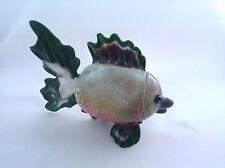 Fish - Large Glass Sculpture - handmade boro lampwork dichroic annealed