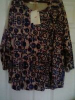 Ladies M&S Indigo collection tunic top 3/4 length  sleeves size 16 BNWT  *******