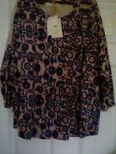 Ladies M&S Indigo collection tunic top 3/4 length  sleeves size 14 BNWT  *