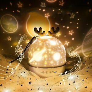 LED Light Projector Starry Sky Romantic Rotating Music Lamp Children Gift👍👍👍