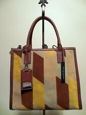 NEW CLAUDIA FIRENZE MADE IN ITALY PATCHWORK LEATHER SATCHEL-HANDBAG-TOTE-SHOPPER