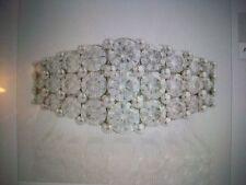 Moissanite Cocktail Ring - 14k White Gold Tiered Women's Fashion 2.00ct DEW sz 7