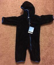 NWTs Columbia Infant Boys Flurries EXS Bunting Fleece Suit Black Sz: 12-18 Month