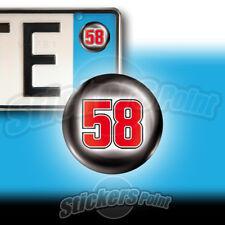 3 ADESIVI targa 58 SIC marco Simoncellii Moto GP stickers auto moto ricordo