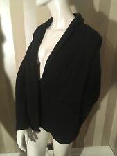 WHISTLES Women's black 100% cotton jacket , size UK 16