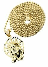 10K Yellow Gold Dog Tag Chain & Jesus Piece Chain | Appx. 8.5 Grams