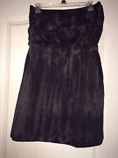 Sweet Love Brand Women's Strapless Black/Gray Tye Dye Style XL Dress W/ Ruffle