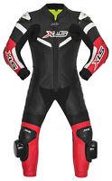 Kinder Lederkombi einteilig Kinderkombi Kids Racing Suit Einteiler Schwarz Rot