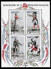 Bloc Feuillet FRANCE NEUF 1989 Personnages Celèbres de la Révolution Française.