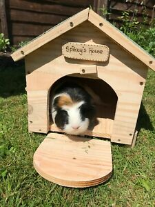 Outside Pet House Hide Shelter for Guinea Pigs, Smaller Rabbits and Small Pets
