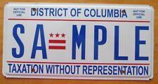 Washington DC 2010 SAMPLE License Plate SUPERB # SA-MPLE