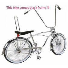 "New 26"" Lowrider bike Beach Cruiser with 144 spokes wheels Black Frame"