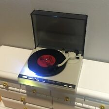1:12 Scale Dollhouse Record Player Turntable Working Miniature Music Room Songs