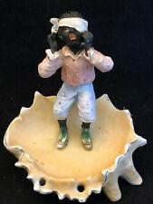 Biscuit Polychrome Enfant Vers 1900 Antique French Vide Poche
