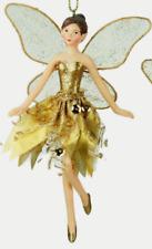 Gisela Graham Gold Ballerina Fairy Hanging Christmas Tree Decoration