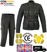 MOTROX Motorcycle Motorbike Jacket / Trouser Black Texti Waterproof Suit  SALE