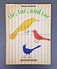 Bruno Munari ~ tic tac and toc ~ 1957 Children's ~ 1st ed Book ~ Birds