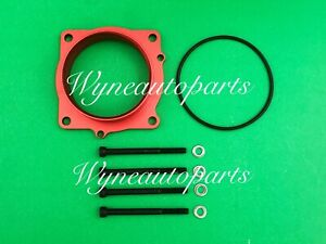 Throttle Body Spacer FIT 05-16 Dodge Challenger Charger Magnum Chrysler 300 RED
