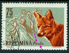 1961 Red Fox,Rotfuchs,Renard roux,Archer,Romania,Mi.1986,ERROR/2,VFU,rare!!