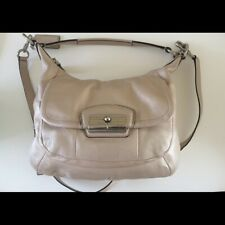 COACH Kristin Leather Hobo Bag Champagne Color
