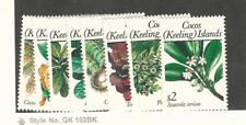 Cocos Islands, Postage Stamp, #184, 186-7, 191-7 Mint NH, 1988-9 Flowers