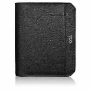 New Tumi Travel Accessories Camden Passport Cover Black Leather Bifold RFID