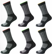 "3 Mens KATO™ Cotton Rich Industrial Safety ""BIG FOOT"" Work Socks UK 11-14"