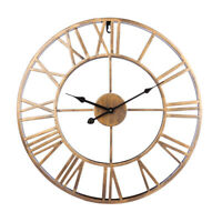 40CM Big Retro Wrought Iron Wall Clock Roman Numerals Clock Home Hanging Decor
