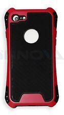 NUOVO Custodia antiurto PC Cover sottile cover per Apple iPhone 7 7S ROSA ROSSA