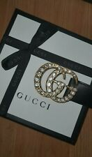 GUCCI 115 Black Leather Double G Belt ⭐NEW