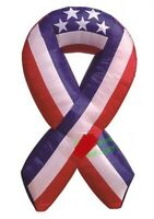 HALLOWEEN JULY 4TH PATRIOTIC MEMORIAL DAY RIBBON USA  INFLATABLE AIRBLOWN 6 FT