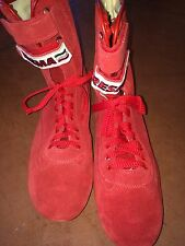 NEW RED Italian Racing Gear (FIA) Red Suede Boot Shoes size 43 EU/ 9.5 US