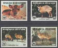 Timbres Animaux Cote d'Ivoire 733/6 ** lot 11814