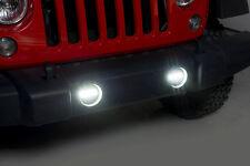 NEW LED Replacement Fog Light Lamp Kit / FOR 10-15 JK WRANGLER W/PLASTIC BUMPER