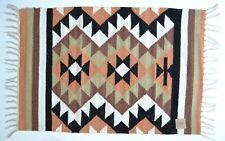 Small Kilim Rug Wool Indian Hand Knotted Diamond Harlequin 60x90cm 2x3 Moroccan