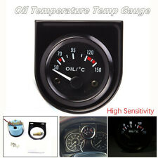 1 Set 50-150℃ 52mm LED Light Car Pointer Oil Temperature Temp Gauge Black Shell
