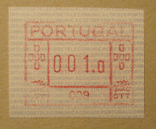 Portugal 1981/86: ATM/variable rate stamp/label, m. A-Nr. 009, Teil-Druck -RARE!