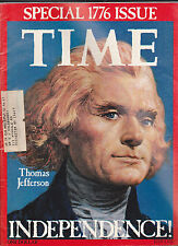 Time Magazine Thomas Jefferson Bicentennial Independence 1776 1976