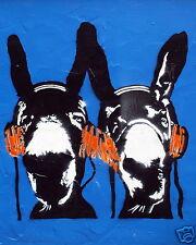 Banksy Street  DJ DONKEYS BLUE A1 SIZE PRINT FOR YOUR FRAME