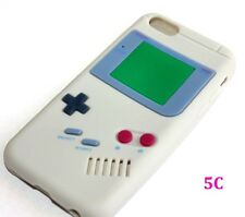 For iPhone 5 5C 5S -SOFT SILICONE RUBBER SKIN CASE COVER GREY GBA GAMEBOY PLAYER