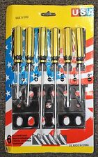 6 PCs Screwdriver Set Slotted and Phillips