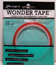 "Ranger Wonder Tape Double-Sided, Heat Resistant Clear Tape 1/4"" 15ft Roll"