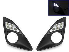 USA 2012-2014 Toyota Camry Bumper White LED Daytime Running DRL Fog Light Trim