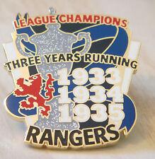 Rangers Raro victoria Pines 3 in (approx. 7.62 cm) una fila 1933-35 campeones de liga Insignia Danbury Mint