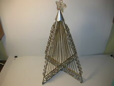 Whimsical Metal Beaded Tree for Christmas Holiday Decorating Displays